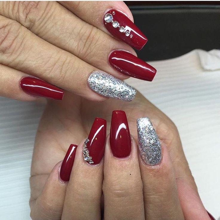 coffin christmas acrylic nails photo - 1