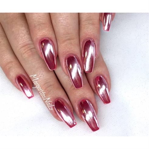 coffin chrome nails photo - 1