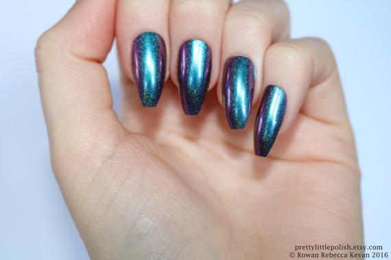 coffin chrome nails photo - 2