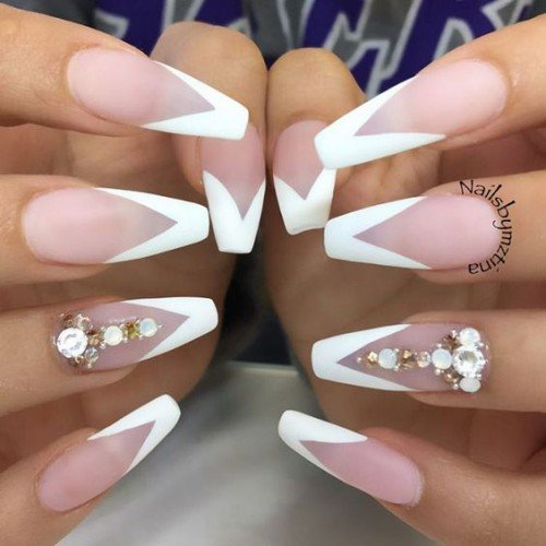 Coffin french nails - Expression Nails