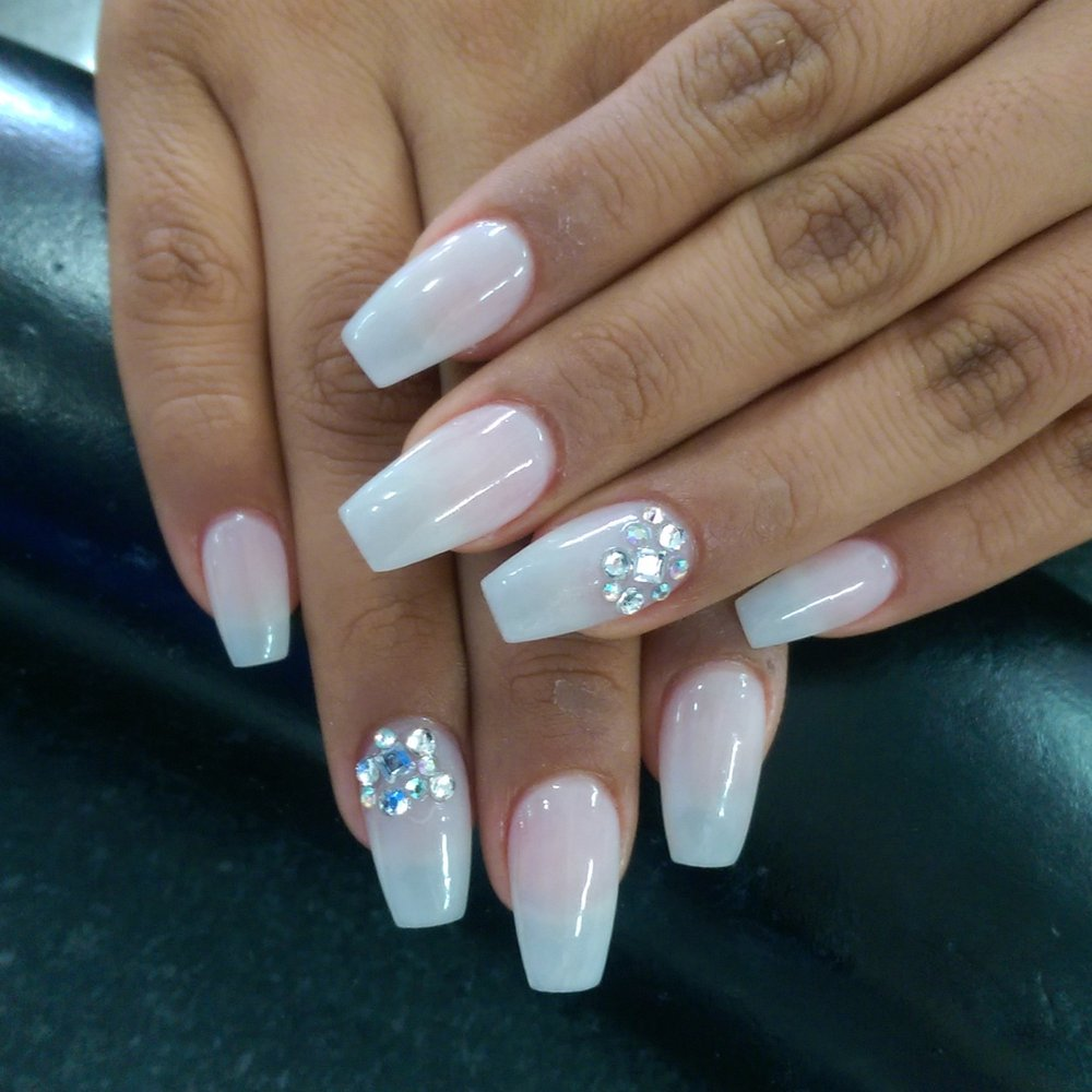 Coffin gel nails - Expression Nails