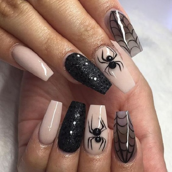 Coffin halloween nails - New Expression Nails