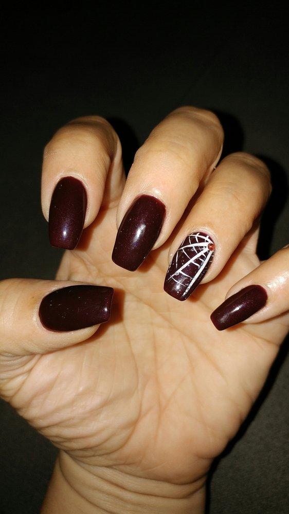 coffin halloween nails photo - 2