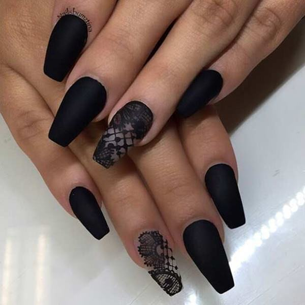 Coffin matte nails - Expression Nails
