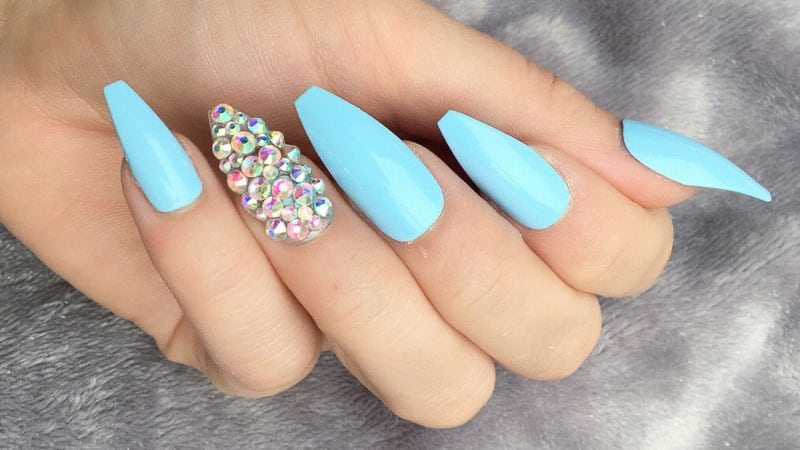 coffin nails blue photo - 1