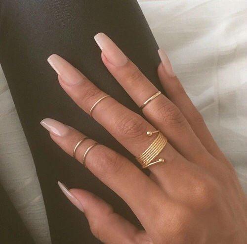 coffin nails natural photo - 2