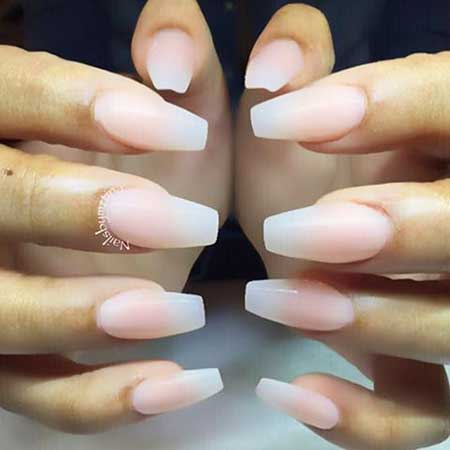 coffin nails natural colors photo - 2