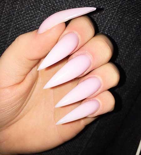 coffin nails pointy lightred photo - 1