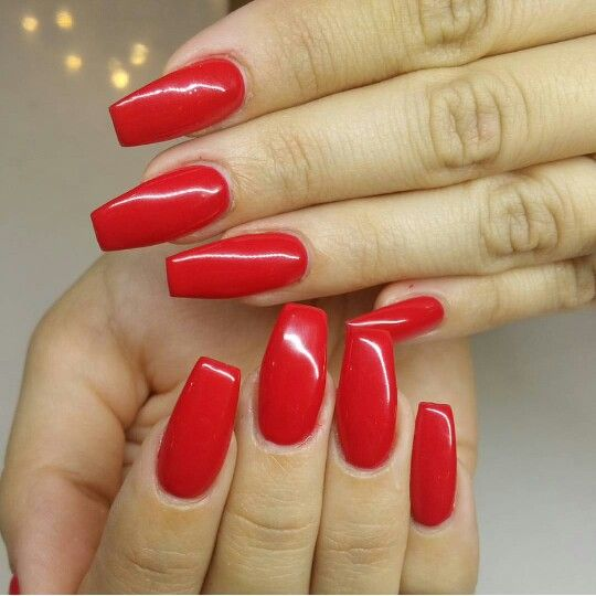 coffin nails red photo - 2
