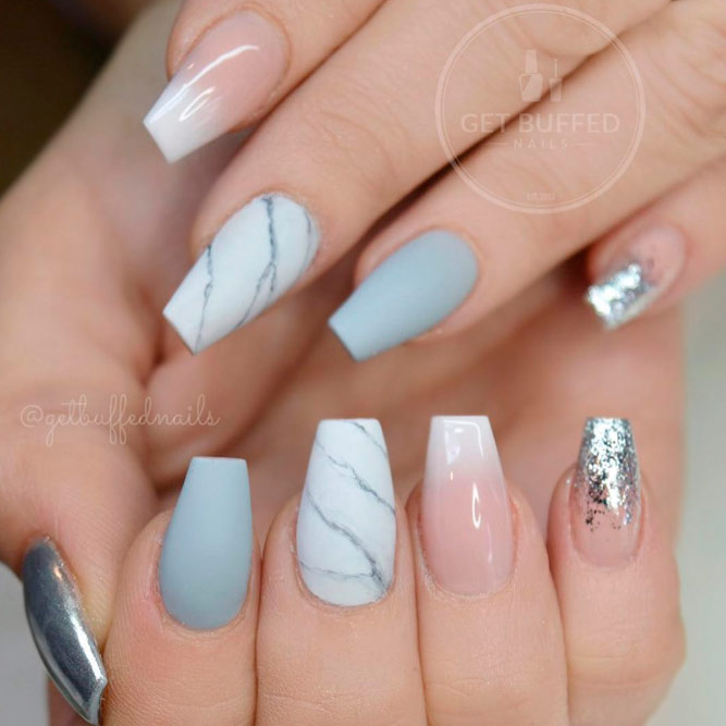 coffin nails silver tip photo - 2
