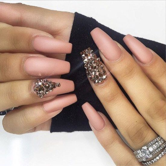 coffin nails with bling photo - 1