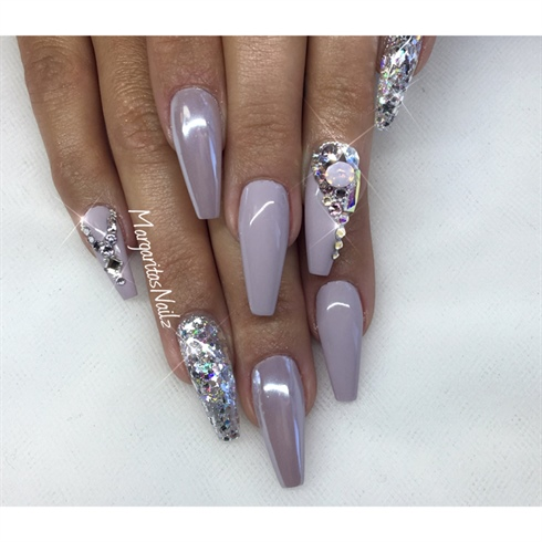 coffin nails with bling photo - 2