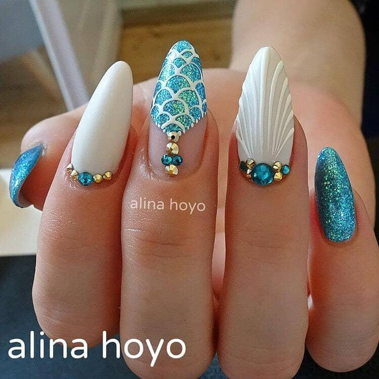 coffin nails with gems photo - 1