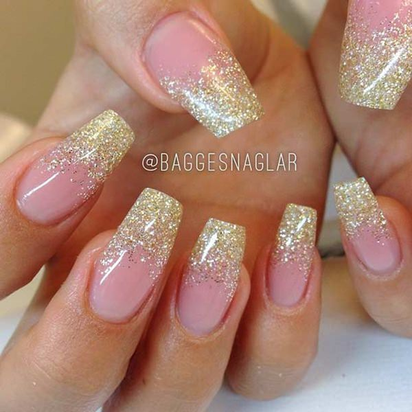 coffin nails with glitter photo - 2