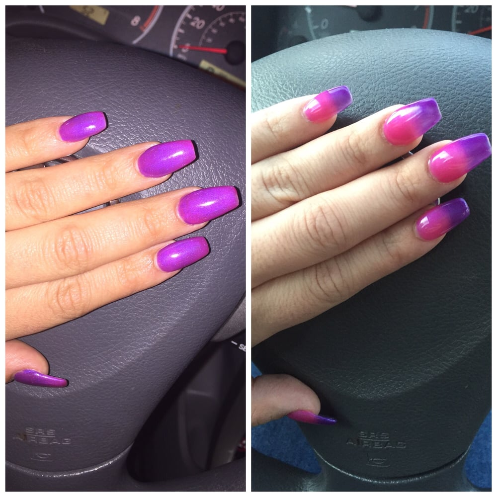 coffin nails with mood polish photo - 1