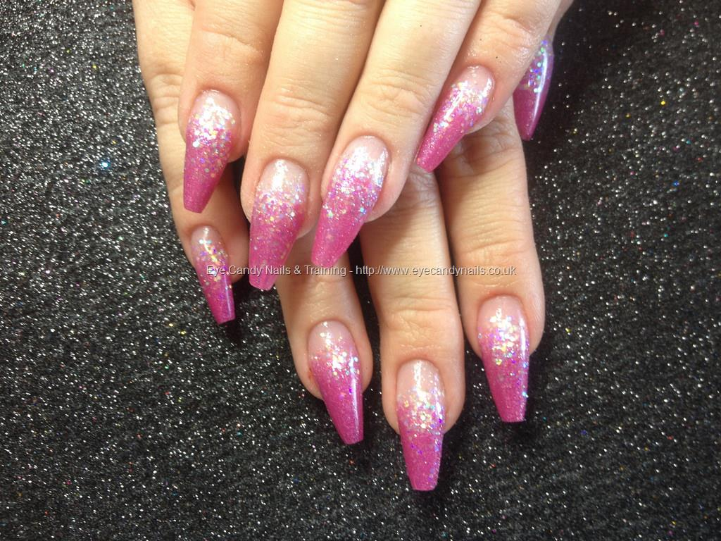 coffin pink acrylic nails photo - 2