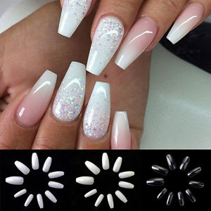 Perfect Acrylic Nails Coffin Shape Matte Frieze - Nail Art Design ...