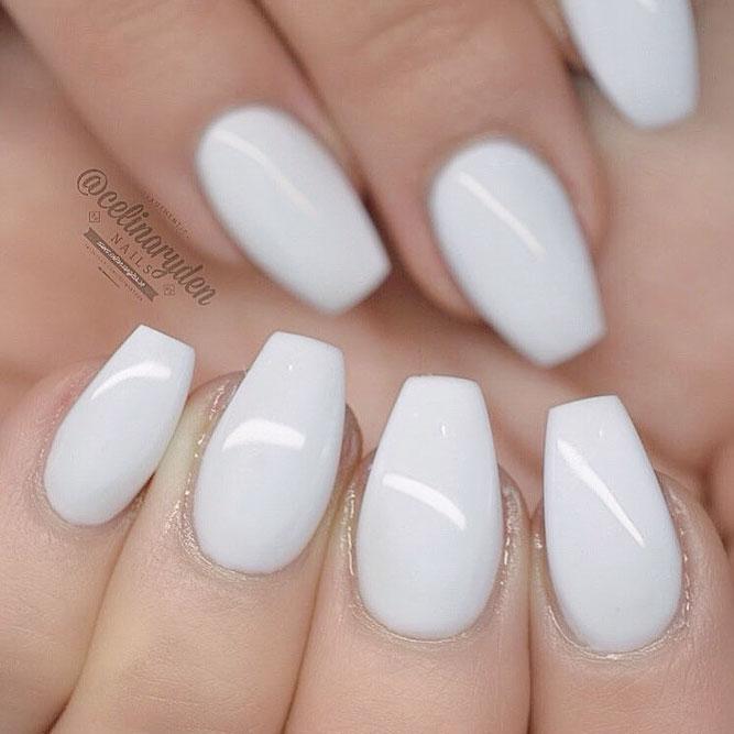 Coffin shaped nails short - Expression Nails
