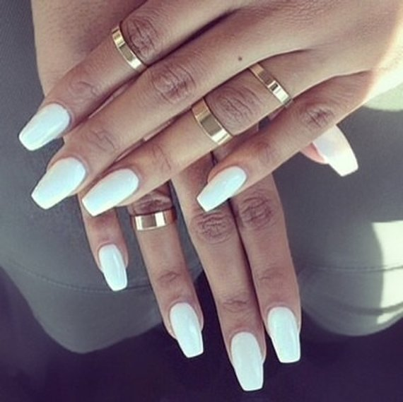 Coffin shaped press on nails - Expression Nails
