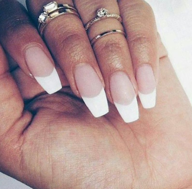 coffin tip acrylic nails photo - 2