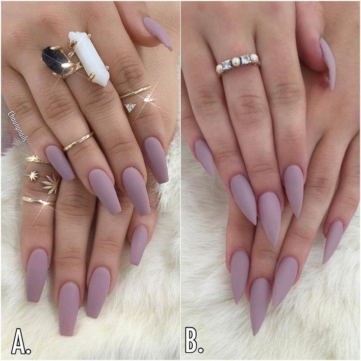 coffin vs almond nails photo - 2