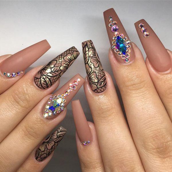 coffin winter acrylic nails photo - 1