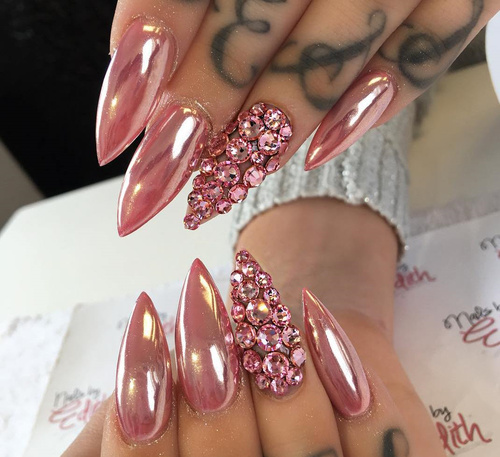 color acrylic nails photo - 2