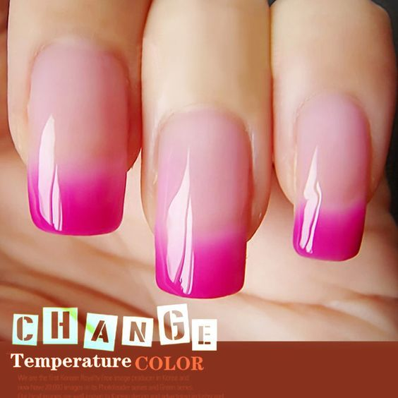Color change acrylic nails - Expression Nails