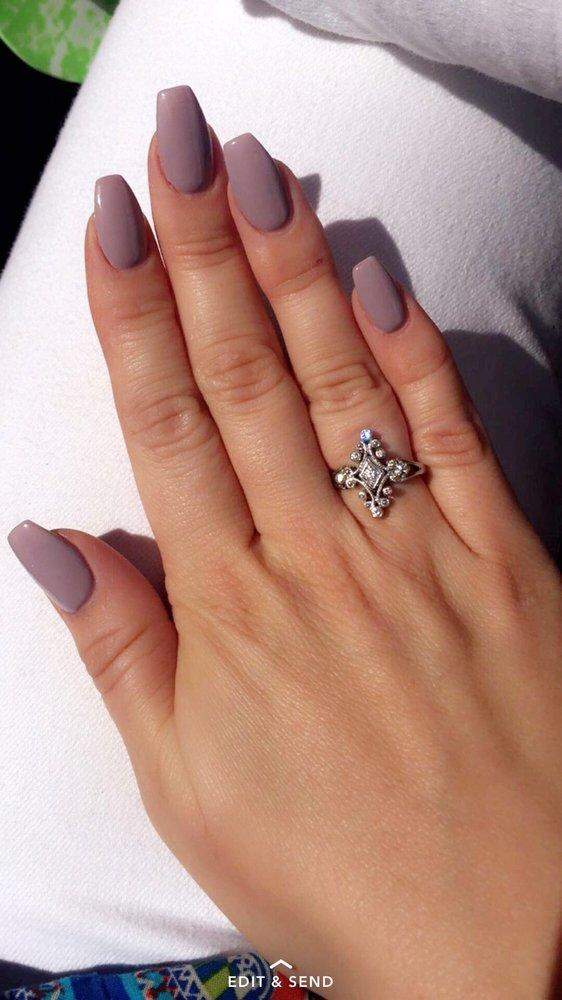 color powder gel nails photo - 1