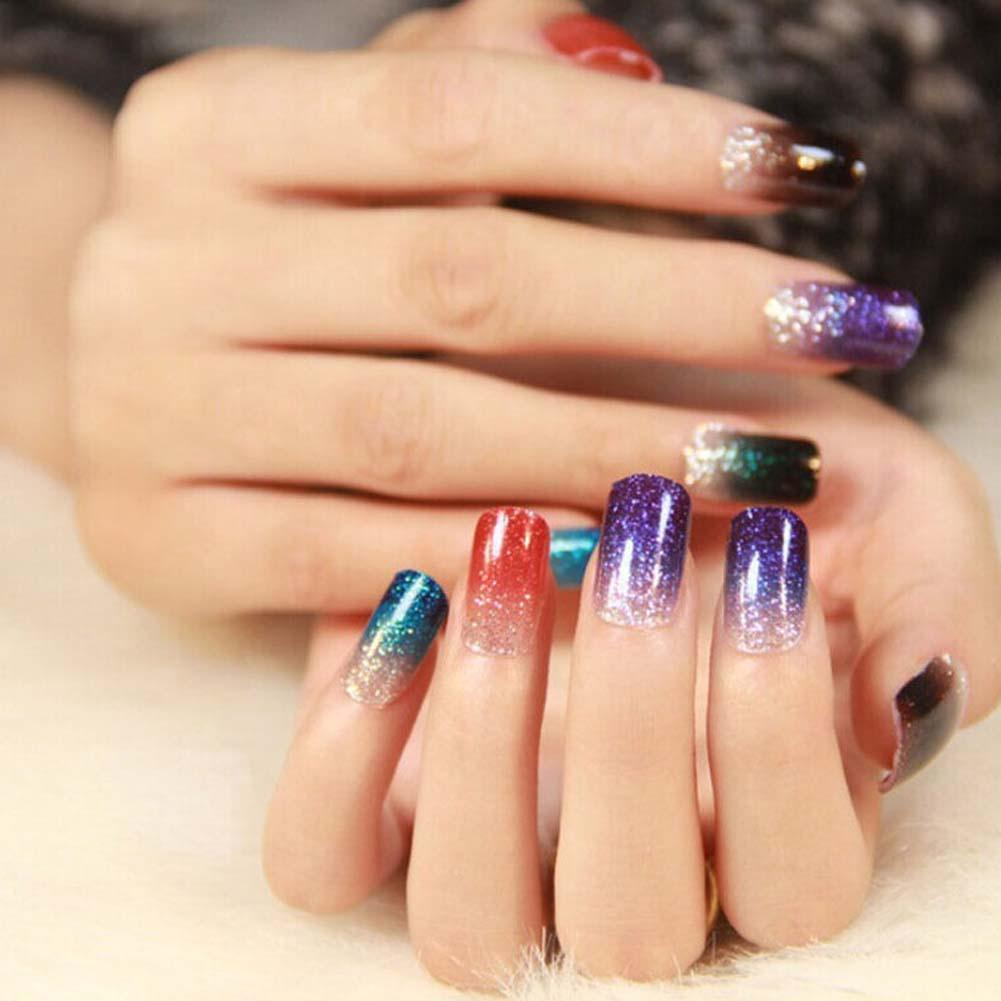 color powder gel nails photo - 2