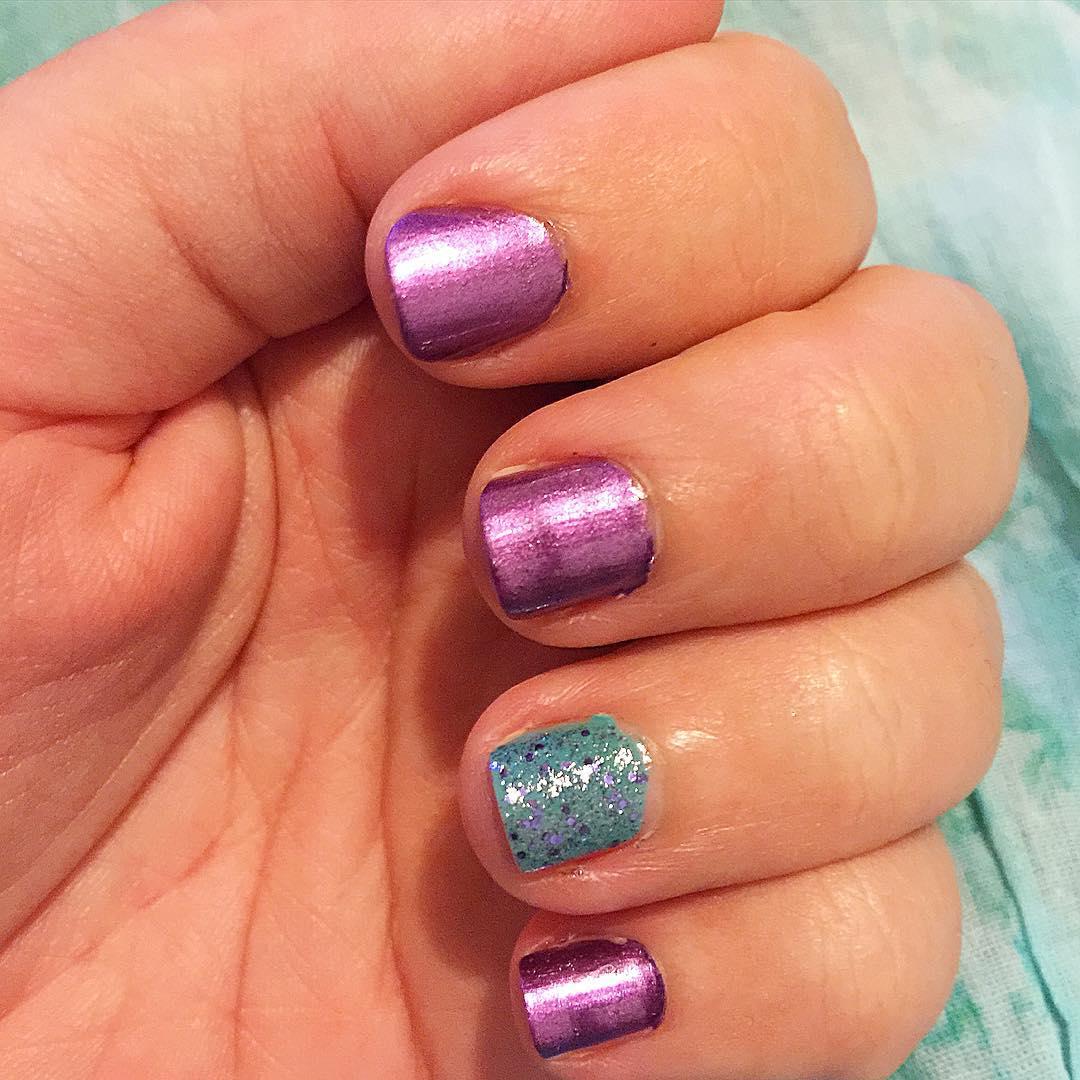 colors acrylic nails photo - 2