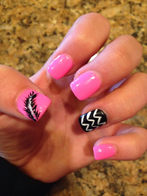 cool easy acrylic nails for teenage girl photo - 2