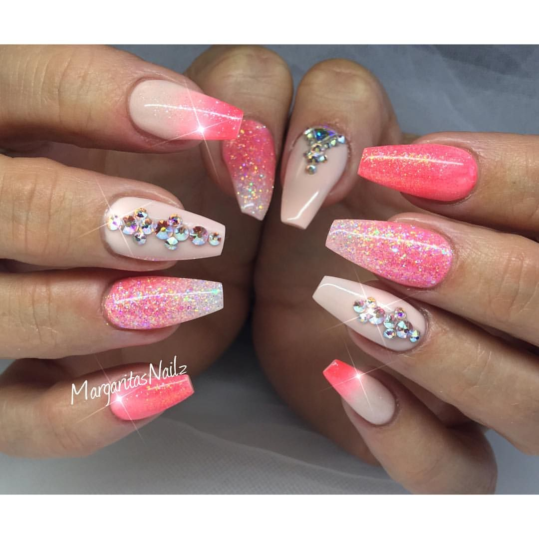 coral coffin nails photo - 2
