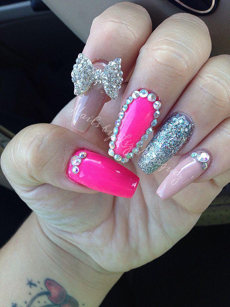 crazy long acrylic nails photo - 1