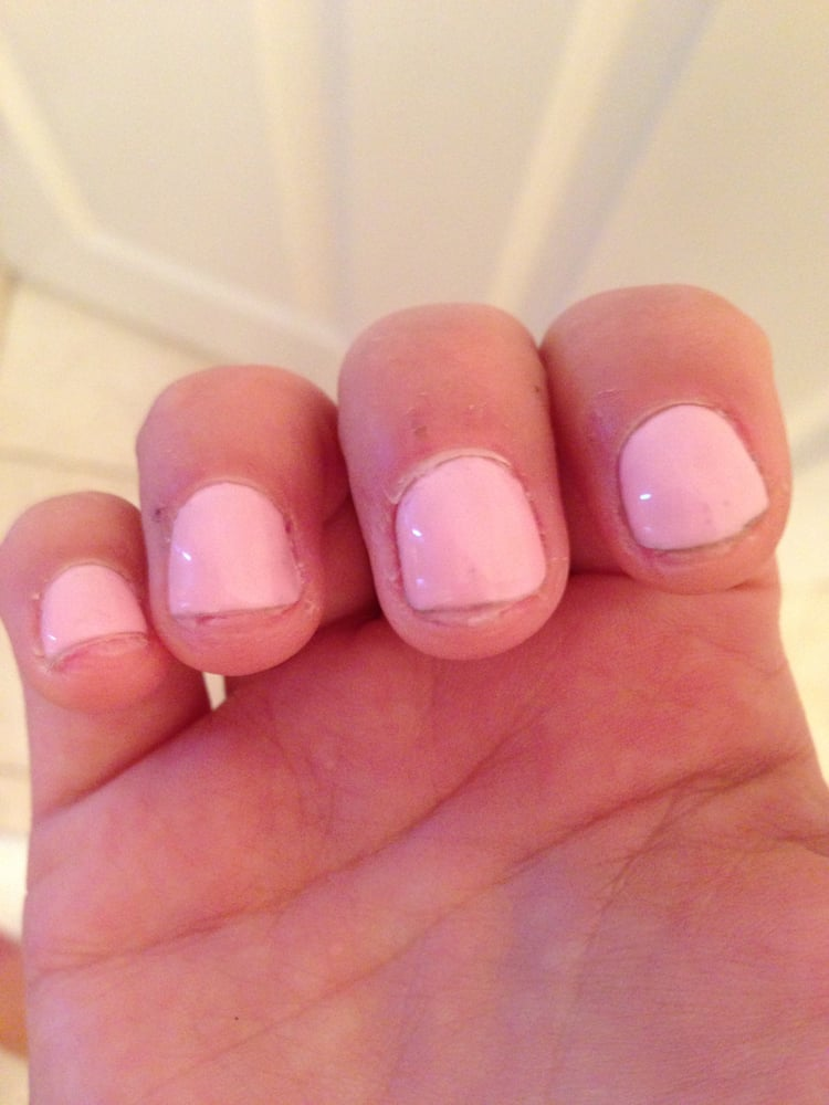 cut gel nails photo - 2