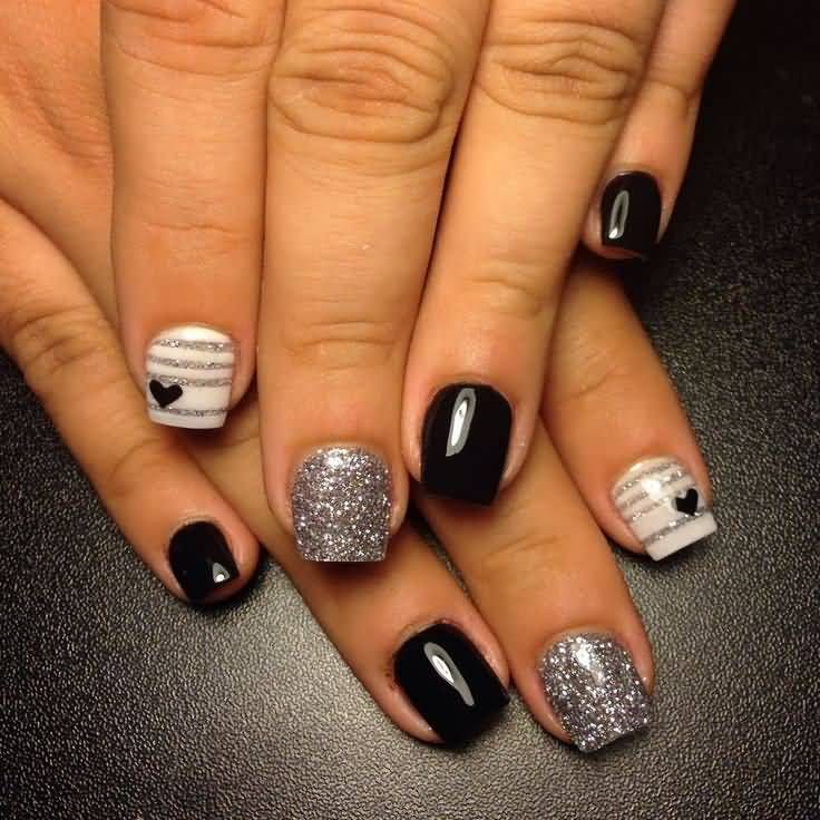 Cute black acrylic nails - Expression Nails