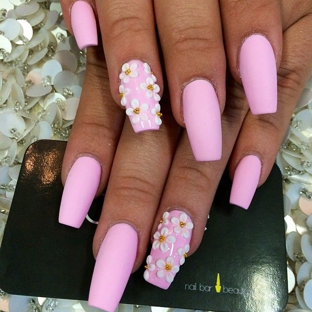 cute coffin shaped nails photo - 2