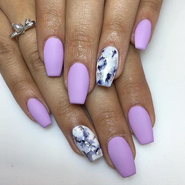 cute coffin summer nails photo - 1
