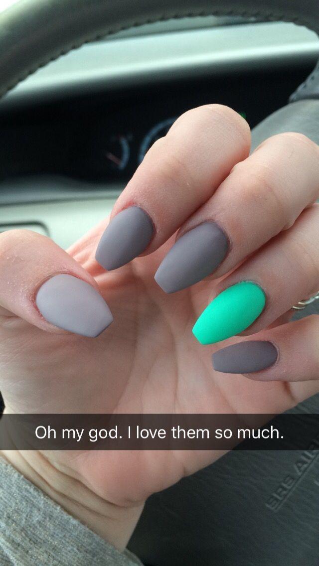 cute coffin summer nails photo - 2