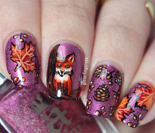 cute fall acrylic nails photo - 1