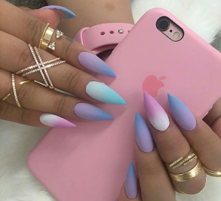 cute long acrylic nails photo - 1