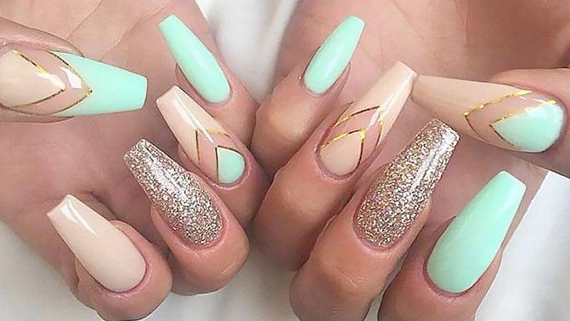 cute nails coffin photo - 1