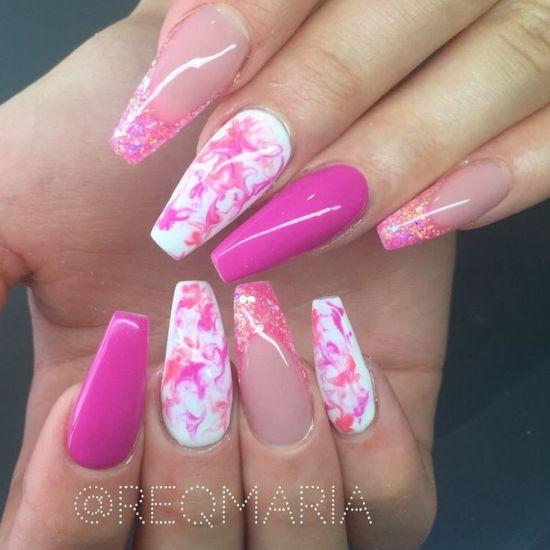 cute nails coffin photo - 2