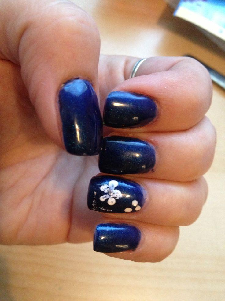 Dark blue gel nails - Expression Nails