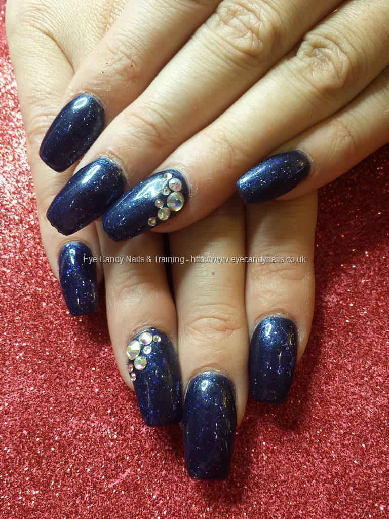 Dark blue gel nails - Expression Nails