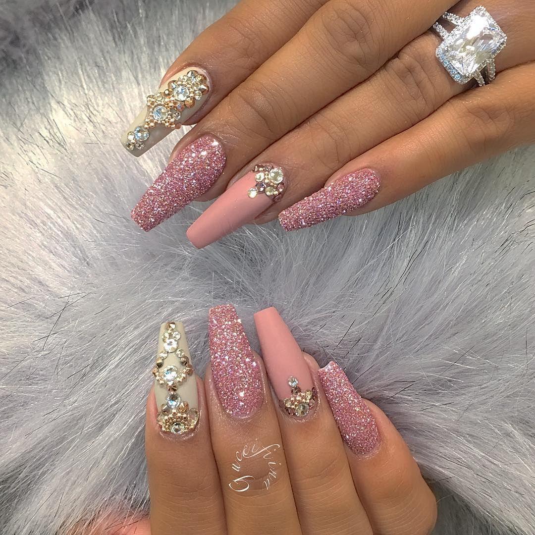 Dark grey acrylic nails - Expression Nails