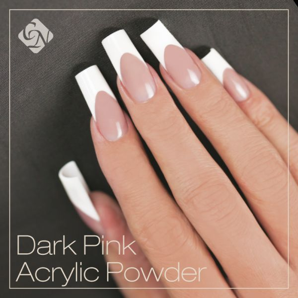 Dark Pink Acrylic Nails Photo