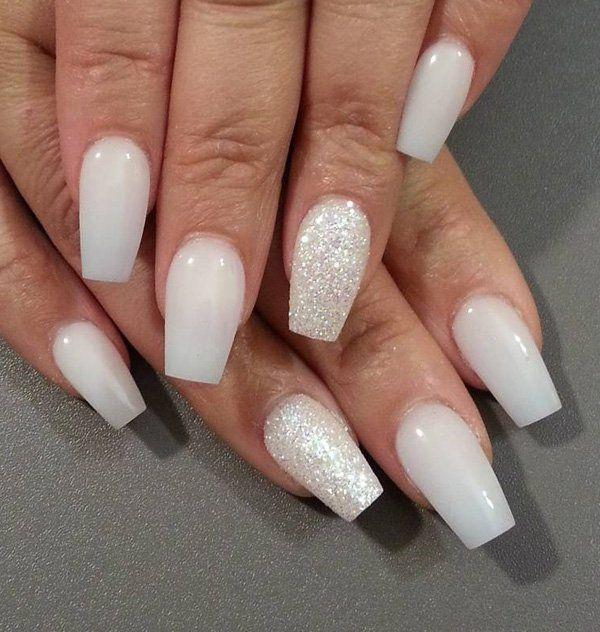 dark short length stiletto nails photo - 2