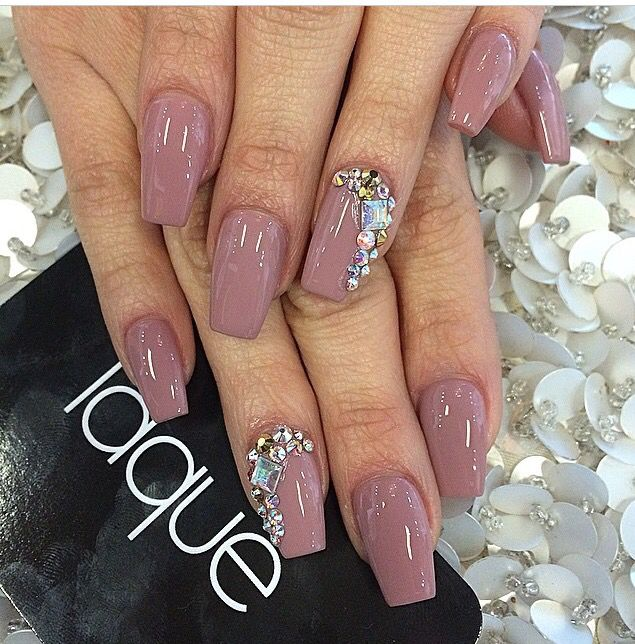Diamond acrylic nails - Expression Nails