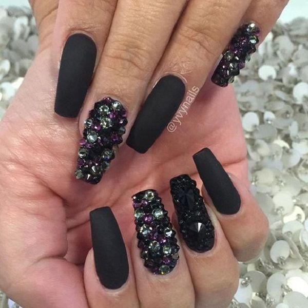 diamond acrylic nails photo - 2